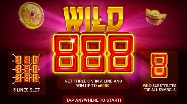 Casino Dingo featuring the Video Slots Wild 888 with a maximum payout of $30,000