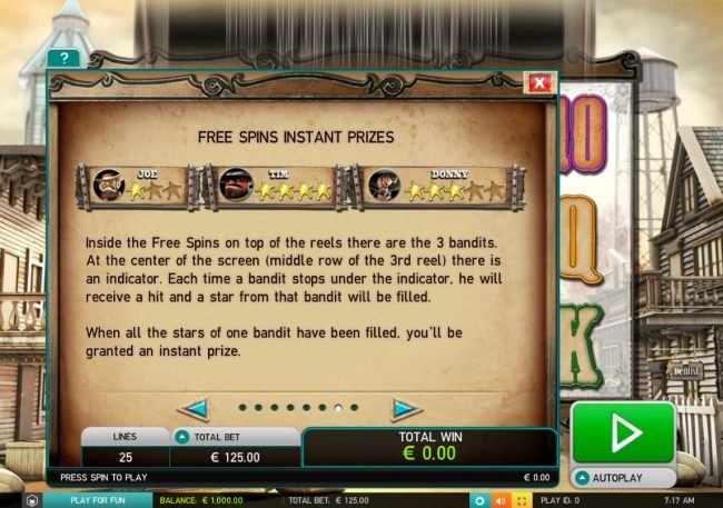 Amsterdam Casino featuring the Video Slots Wild Bandits with a maximum payout of $250,000