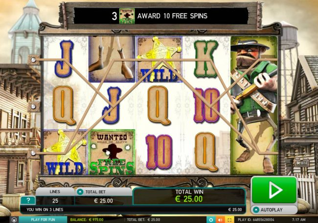 Mr Green featuring the Video Slots Wild Bandits with a maximum payout of $250,000