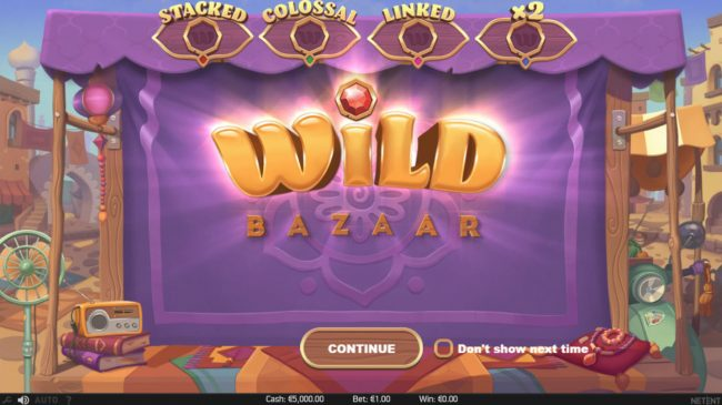 Vegas Baby featuring the Video Slots Wild Bazaar with a maximum payout of $156,000
