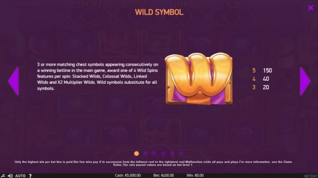 Touch Lucky featuring the Video Slots Wild Bazaar with a maximum payout of $156,000