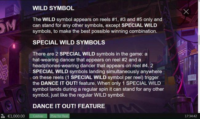 Wild symbol and Special Wild Symbols Rules