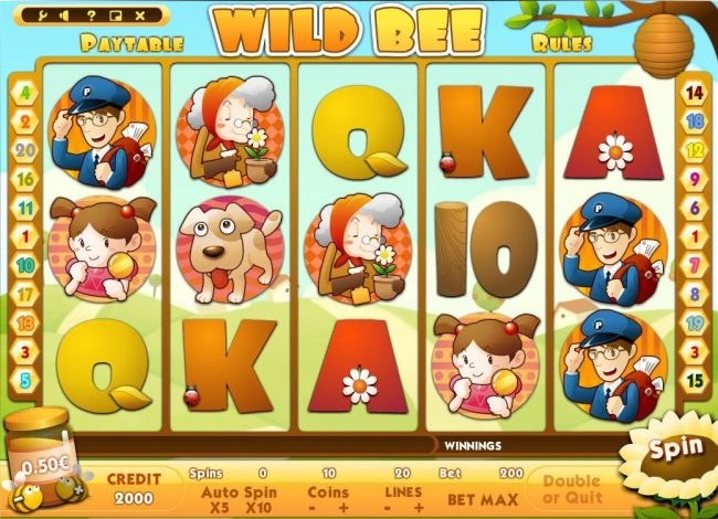 Play slots at Jackie Jackpot: Jackie Jackpot featuring the Video Slots Wild Bee with a maximum payout of $500,000