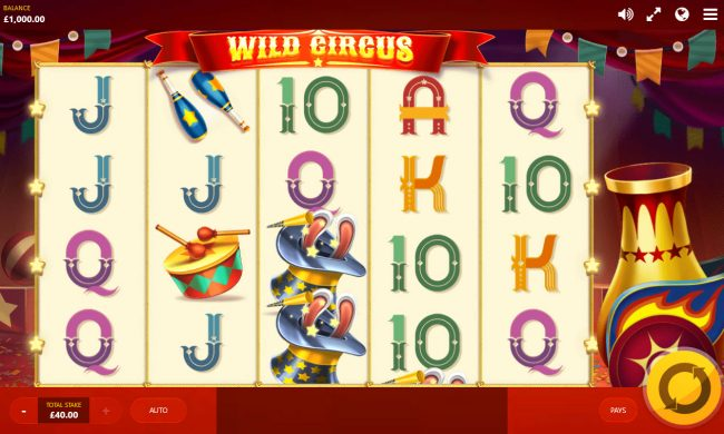 Play slots at Level Up: Level Up featuring the Video Slots Wild Circus with a maximum payout of $400,000