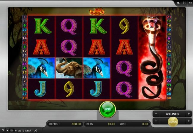 Play slots at B-Bets: B-Bets featuring the Video Slots Wild Cobra with a maximum payout of $50,000