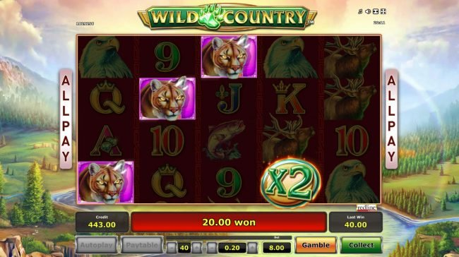 Wild Country :: Free Spins Game Board