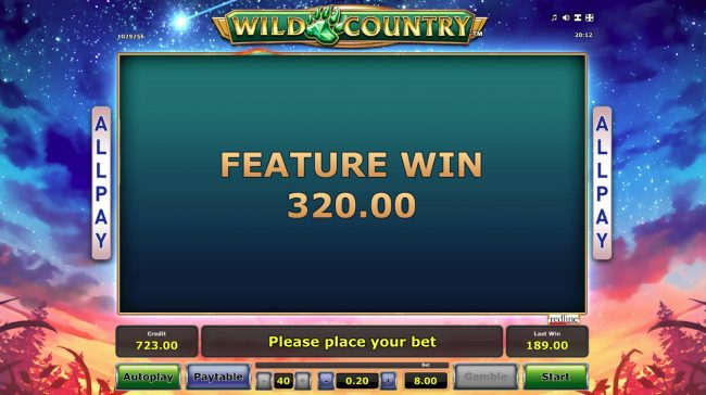 Wild Country :: Total Free Spins Payout