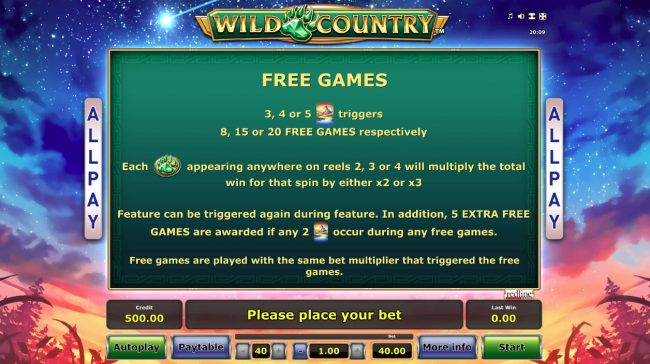 Wild Country :: Free Game Rules