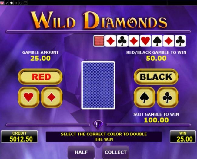 Svedala featuring the Video Slots Wild Diamonds with a maximum payout of $10,000