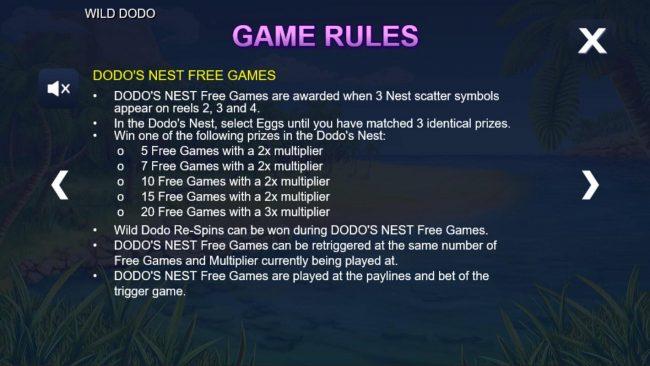 Wild Dodo :: Dodos Nest Free Games Rules