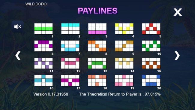 Wild Dodo :: Paylines 1-20