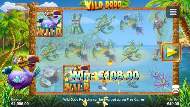 Wild Dodo :: Multiple winning paylines triggers a big win!