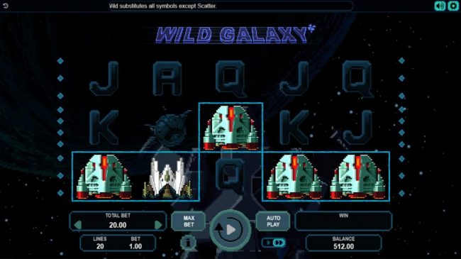 Play slots at Cyber Spins: Cyber Spins featuring the Video Slots Wild Galaxy with a maximum payout of 0