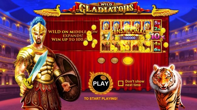 Play slots at Slotman: Slotman featuring the Video Slots Wild Gladiators with a maximum payout of $500,000