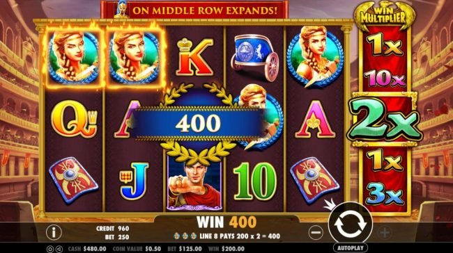 Go Wild featuring the Video Slots Wild Gladiators with a maximum payout of $500,000