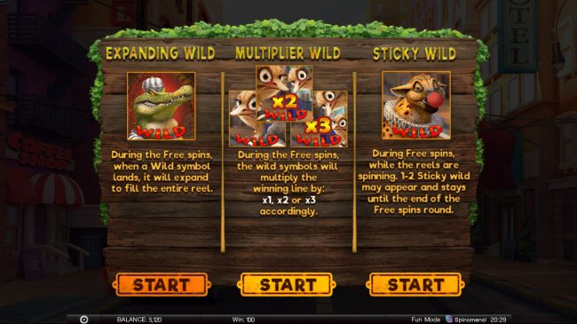 Wild Heist :: Pick your free spins feature