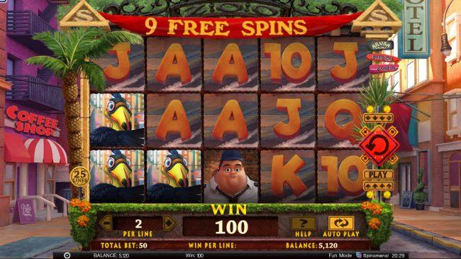 Wild Heist :: Free Spins Game Board