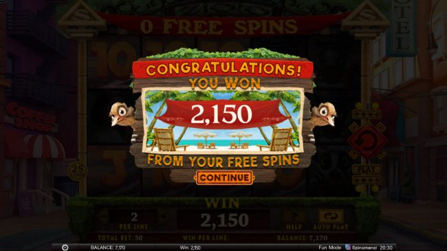 Wild Heist :: Total Free Spins Payout
