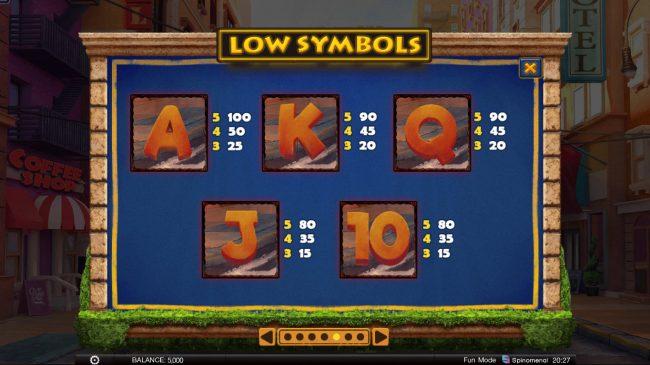 Wild Heist :: Low Value Symbols