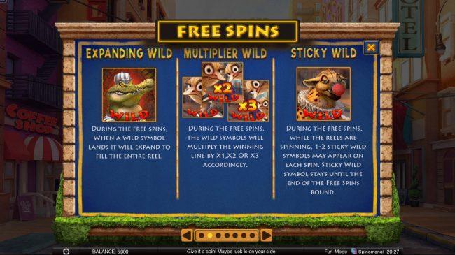 Wild Heist :: Free Spins Rules