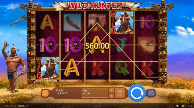 Wild Hunter :: Multiple winning paylines