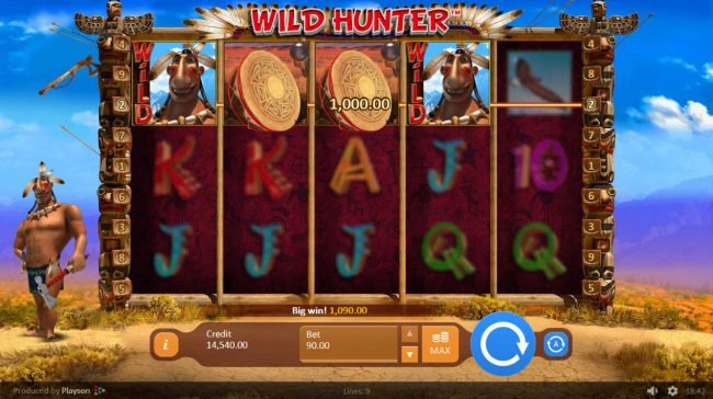 Play slots at Campeon: Campeon featuring the Video Slots Wild Hunter with a maximum payout of $50,000