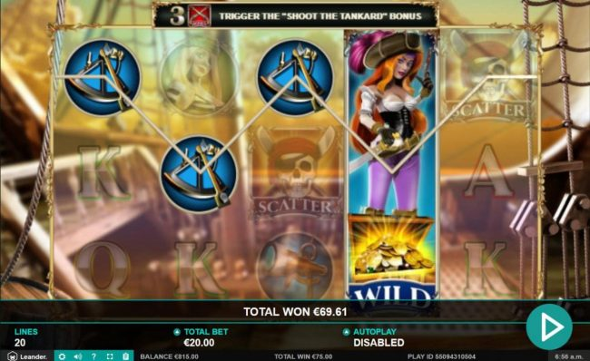 Come On featuring the Video Slots Wild Jane the Lady Pirate with a maximum payout of $12,500