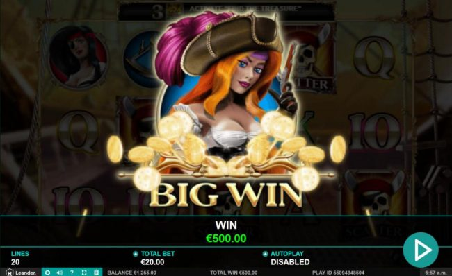 Casino Superlines featuring the Video Slots Wild Jane the Lady Pirate with a maximum payout of $12,500