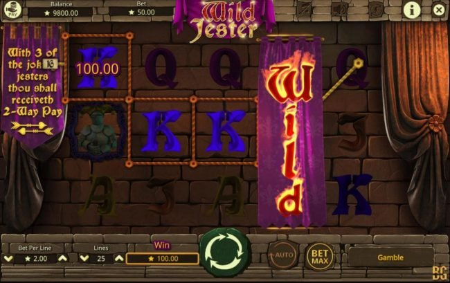 Play 24 Bet featuring the Video Slots Wild Jester with a maximum payout of $20,000
