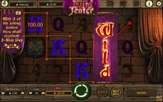 Play slots at Play Club Casino: Play Club Casino featuring the Video Slots Wild Jester with a maximum payout of $20,000