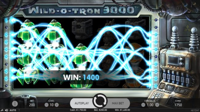 Casino Extra featuring the Video Slots Wild-O-Tron 3000 with a maximum payout of $10,000