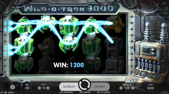 Play slots at Lucky Bets: Lucky Bets featuring the Video Slots Wild-O-Tron 3000 with a maximum payout of $10,000