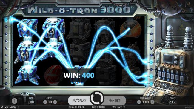 Astralbet featuring the Video Slots Wild-O-Tron 3000 with a maximum payout of $10,000