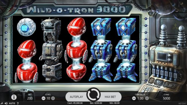 Fruity Casa featuring the Video Slots Wild-O-Tron 3000 with a maximum payout of $10,000