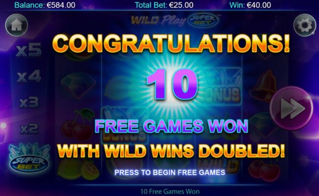 Jackpot Mobile featuring the Video Slots Wild Play Super Bet with a maximum payout of $16,375