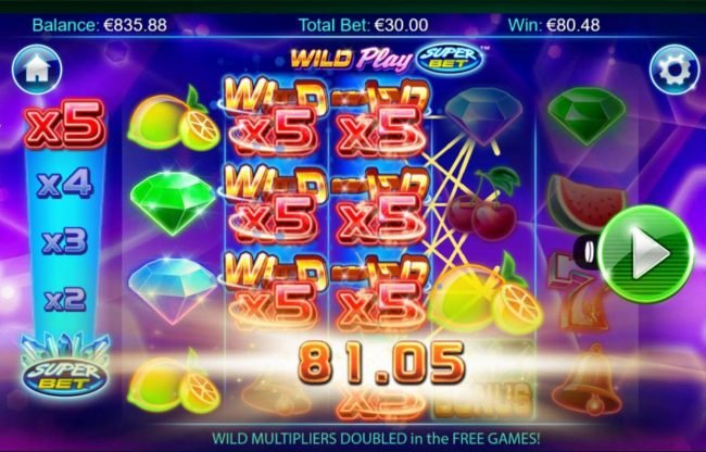 Play slots at All Slots: All Slots featuring the Video Slots Wild Play Super Bet with a maximum payout of $16,375
