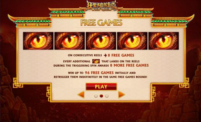 Casino.com featuring the Video Slots Wild Qilin with a maximum payout of $250,000
