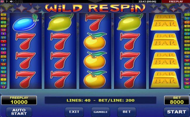 Wild Respin :: Main Game Board
