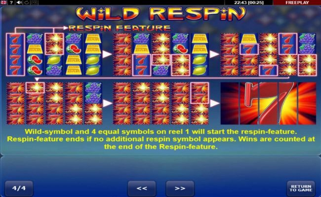 Wild Respin :: Respin Feature Rules