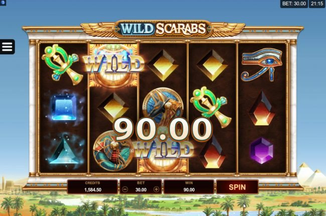 Play slots at Vegas Winner: Vegas Winner featuring the Video Slots Wild Scarabs with a maximum payout of $104,000