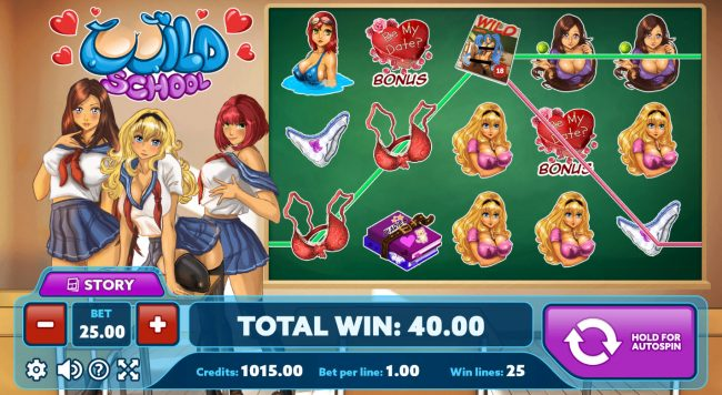 Venetian featuring the Video Slots Wild School with a maximum payout of $3,750