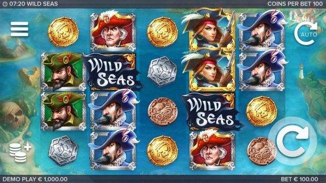 Play slots at Hello: Hello featuring the Video Slots Wild Seas with a maximum payout of $178,000