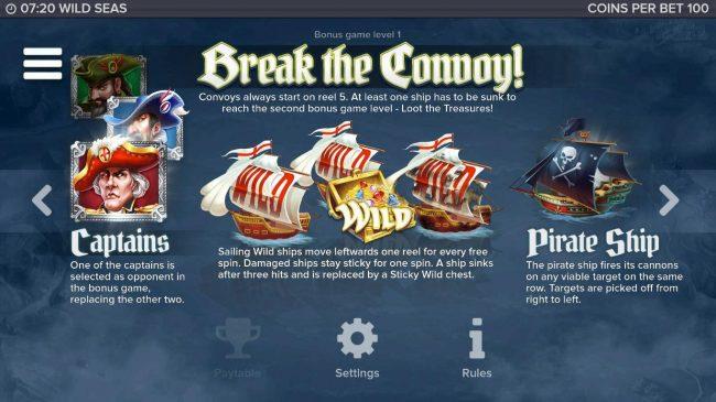 Wild Seas :: Bonus Game Rules