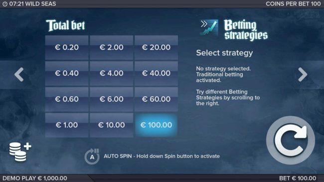Wild Seas :: Betting Options