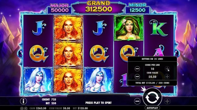 Crystal Casino Club featuring the Video Slots Wild Spells with a maximum payout of $10,000