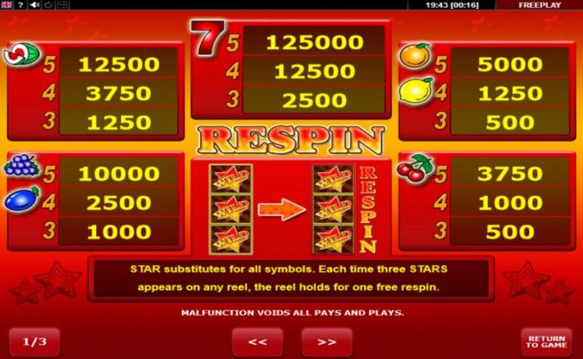 Play slots at CryptoWild: CryptoWild featuring the Video Slots Wild Stars with a maximum payout of $12,500