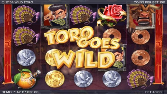 Sin Spins featuring the Video Slots Wild Toro with a maximum payout of 225,000x