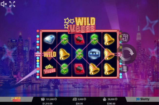All Wins Casino featuring the Video Slots Wild Vegas with a maximum payout of $60,000