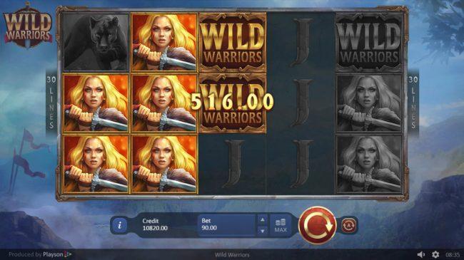 Wild Warriors :: Multiple winning paylines