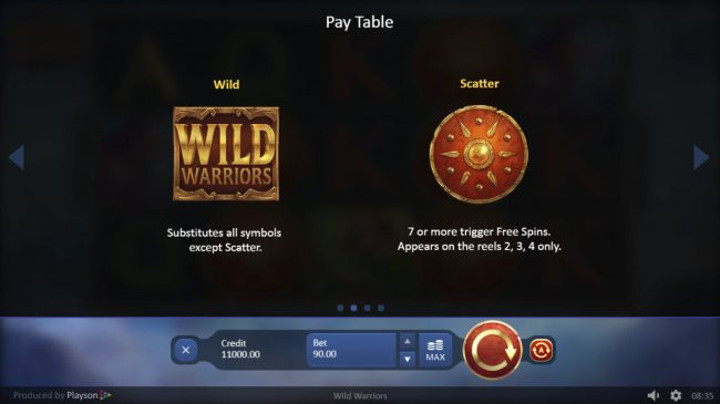 Wild Warriors :: Wild and Scatter Symbol Rules